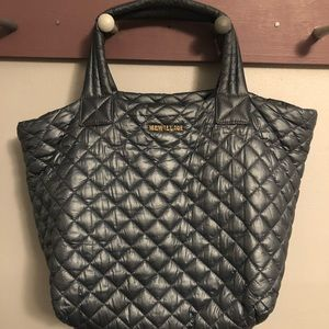 MZ Wallace Small Metro Tote Blue/Gray